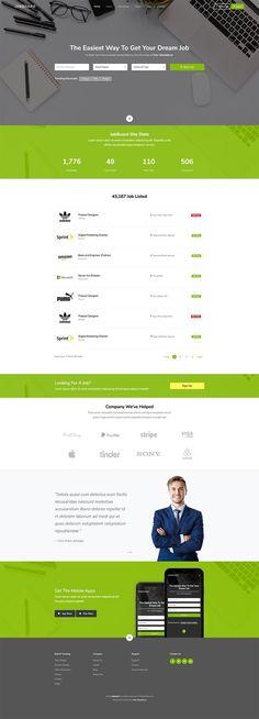 Free Resource to explore your imagine Job Portal Website, Free Web Design, Bootstrap Template, Free Website Templates, Recruitment Agencies, Dream Job, Hunters, Modern Design, Boards