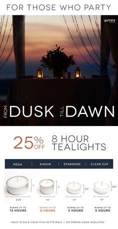 25% off 8 Hour Tealights. Shop yummicandles.com