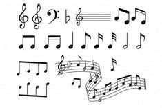 music notes Musical Notes SVG for Silhouette Cameo and Cricut. Music pentagram SVG, Musical Notes Clipart, Clipart PNG transparent included for Personal & Commercial Use. This set include Note Doodles, Notes Free, Note Tattoo, Digital Stamps, Digital Collage, Music Notes, Silhouette Cameo, Silhouette Studio, Logo Templates