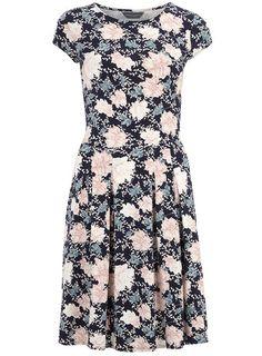 Tall floral boxpleat dress - Fit & Flare Dresses - Dresses