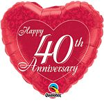 Qualatex 18 Inch Happy Anniverary Heart Shaped Foil Balloon for sale online Heart Balloons, Helium Balloons, Foil Balloons, Latex Balloons, 40th Wedding Anniversary, Anniversary Parties, Happy Anniversary, Balloons Online, Balloon Shop