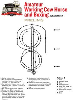 The prelims pattern for amateur #WorkingCowHorse and amateur #boxing has been chosen: