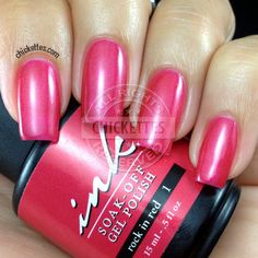 Ink Soak Off Gel Polish -  Rock In Red #1 Swatch