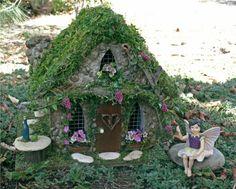 kleine gärten märchenhaftes häuschen elf