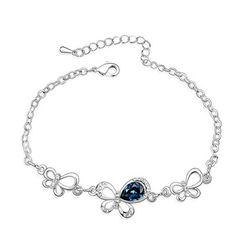 Swarovski crystal bracelet butterfly dancing  From Crystaljewelryuk.com