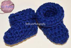Newborn Crochet Baby Booties baby boy booties by Hooked4Babies