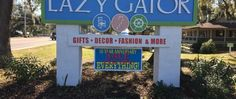 Lazy Gator is a popular gift shop with a little bit of everything and two Grand Strand locations; one in Murrells Inlet and the other at The Market Common. Myrtle Beach Shopping, Murrells Inlet, Vacation Ideas, Lazy, Outdoor Decor, Gifts, Presents, Favors, Gift