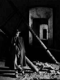 Alida Valli photographed on the set of The Third Man, Shepperton Studios, London, 1949