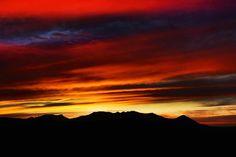 Sunset at Cerro del Muerto (Hill of the Deceased), Aguascalientes, México.