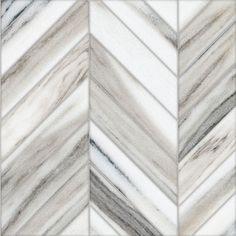 Talya Multi Finish 13 7/16x 13 7/16 Bosphorus Sky Marble Waterjet Mosaics - Marble Systems Inc.