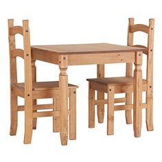 WorldStores 2 Seater Pine Table and Matching Chairs Kitchen or Dining Room Set - 2 Seater Dining Set Seconique http://www.amazon.co.uk/dp/B00DS52YS0/ref=cm_sw_r_pi_dp_ZgWbub1D77EFT