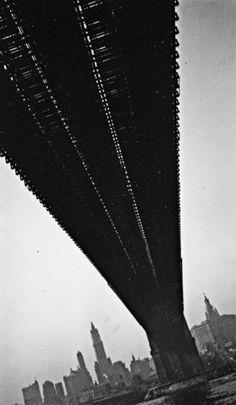 WALKER EVANS    Brooklyn Bridge, New York, 1928-29