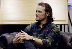 Catch your Q&A with Sam Heughan about everything from his style icon to Barbour Shirts! Sam Heughan, September 2016