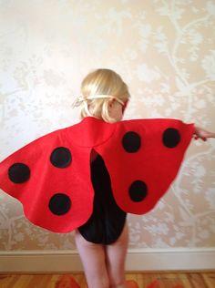 ladybird cape by the button tree   notonthehighstreet.com