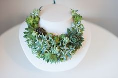 Passionflower succulent necklace.