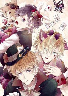 diabolik lovers   kanato sakamaki   kou mukami   shuu sakamaki   smile   sweet HAPPY HALLOWEEN