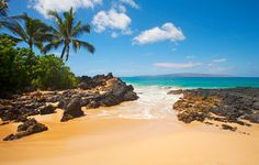 """Secret Beach on Maui. Paako Cove, also known as Secret Beach in Makena, is one of the most beautiful beaches in all of Hawaii (aka Secret Cove aka Makeno Cove). In fact, it is the most popularly photographed beach in all of Hawaii. Address: 7500 Makena RD, Kihei, HI 96753. Travel toward Makena Bch & park at the 3rd/the last entrance. Its access is between 2 black lava rock walls. """"It is one of the most beautiful beach locations I've ever been to. Pictures do not do this place justice."""" """"My…"""