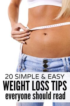 Whether you're new to weight loss, struggling with winter weight gain, or just want strategies to help you maintain your current weight, this list of 20 simple & easy weight loss tips is just what you need!
