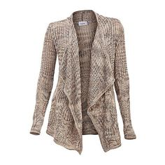 Cardigan ❤ liked on Polyvore featuring tops, cardigans, cardigan top, brown cardigan and brown tops