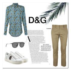 """""""DOLCE & GABBANA Style"""" by imabrahamzrt on Polyvore featuring Dolce&Gabbana, men's fashion, menswear, tropical, dolceandgabbana y MyStyle"""