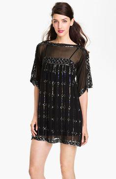 Nanette Lepore 'Dorian' Silk Shift Dress available at #Nordstrom