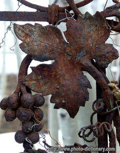 leaf - photo/picture definition - rusty leaf word and phrase image Rust Never Sleeps, Rust In Peace, Peeling Paint, Rusty Metal, Iron Work, Garden Art, Garden Gates, Garden Design, Belle Photo