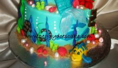 ariel coming out of water cake - Google Search