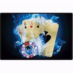 placa quadro decoração jogo poker mdf 19cmx29cm