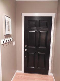 Black Front Door A Decorated Room