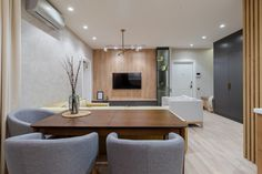МЕТРАЖ: 60 м2  ДИЗАЙН: ARCA DESIGN Conference Room, Table, Furniture, Home Decor, Homemade Home Decor, Meeting Rooms, Tables, Home Furnishings, Interior Design