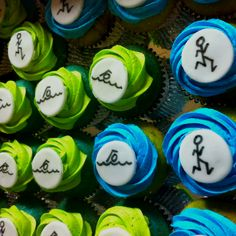 Triathlon cupcakes - my two favorite things: triathlon and cupcakes