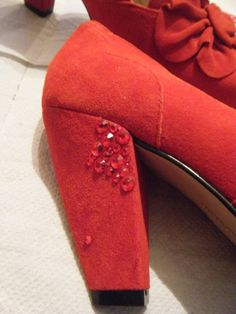 DIY sparkle shoes...doing this can cover up the nicks on the back/heels of my fave booties