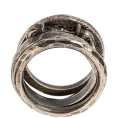 Tobias Wistisen key stone ring ($529) ❤ liked on Polyvore featuring jewelry, rings, metallic, stone rings, metallic jewelry, unisex rings, unisex jewelry and stone jewellery