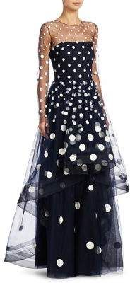 Ahluwalia Cler Polka Dot Gown Ball dress Huge polka dots Black and white ShopStyle Ball Dresses, Nice Dresses, Ball Gowns, Casual Dresses, Beautiful Gowns, Beautiful Outfits, Dots Fashion, Fashion Outfits, Fashion Week 2018