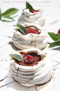 Mini Pavlova, Caramel, Meringue, Sweet Recipes, Panna Cotta, Pudding, Cake, Ethnic Recipes, Desserts
