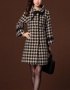 This item is unavailable : Tailored Wool Coat Trench Coat Long Jacket Winter Outerwear Winter Coats Women, Coats For Women, Jackets For Women, Childrens Coats, Trendy Fashion, Winter Fashion, Tartan Fashion, Houndstooth Coat, Lolita Dress