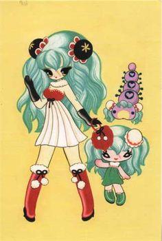 Junko Mizuno by Ginamarr, Kawaii Art, Kawaii Anime, Cyberpunk Anime, Sassy, Japanese Art Modern, Fu Dog, Graffiti Painting, Chicano Art, Cartoon Drawings