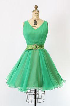 60s Miss Elliette Dress XS / 1960s Chiffon by CrushVintage on Etsy
