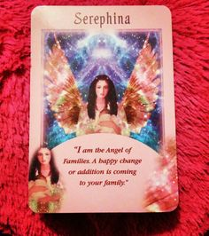 ~Serephina card from Message from your Angels Oracle Cards by Doreen Virtue~