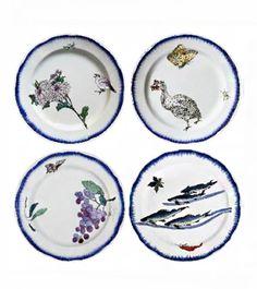 SFK Tabletop   Bracquemond Set #2 6 Assorted Plates