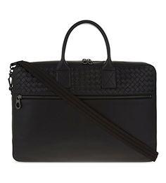 BOTTEGA VENETA Intrecciato Leather Briefcase. #bottegaveneta #bags #shoulder bags #leather
