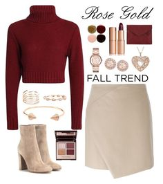 """Rose gold"" by samang ❤ liked on Polyvore featuring Carven, STONE, CC SKYE, Marc by Marc Jacobs, Givenchy, Gianvito Rossi, Charlotte Tilbury, Nails Inc., Rebecca Minkoff and rosegold"