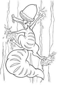 Ausmalbilder Ice Age Scrat - Only Coloring Pages Cute Coloring Pages, Disney Coloring Pages, Printable Coloring Pages, Free Coloring, Adult Coloring Pages, Coloring Pages For Kids, Coloring Sheets, Coloring Books, Ice Age