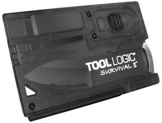 #holidaygiftguide #2015 #men Tool Logic Survival Card with Fire Starter, Light and Knife