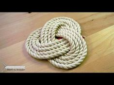 Simple rope mat- rope coaster – All For Garden Willow Weaving, Basket Weaving, Rope Crafts, Yarn Crafts, Rope Rug, Knot Pillow, Diy Coasters, Macrame Knots, Macrame Patterns