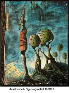 Mask mirror Surrealism, Mirror, Artwork, Painting, Work Of Art, Auguste Rodin Artwork, Painting Art, Mirrors, Paintings