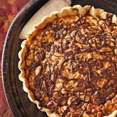 Chocolate-Mixed Nut Tart by Better Homes and Gardens