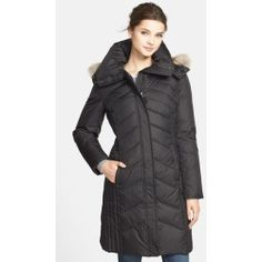 Marc New York 'Mercer' Coyote Fur Trim Down & Feather Fill Coat