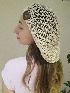 Slouchy summer hat woman summer spring cotton by AmuletEvilEye