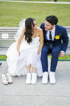We share many ideas of various bridal outfits, shoes and accessories and other stuff and it's time to take a look at some options for dapper grooms, too. Bride Sneakers, Wedding Sneakers, Bride Shoes, Wedding Pics, Wedding Bride, Bridal Outfits, Bridal Gowns, Alternative Wedding Shoes, Comfy Wedding Shoes